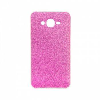 Чехол с блесками Glitter Silicon от Remax для Samsung J700 (J7) розовый