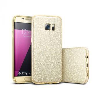 Чехол пенал Amazing в золотом цвете для Samsung Galaxy S7