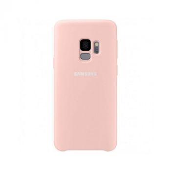 Розовый чехол накладка Silicone Case для Samsung Galaxy S9 original