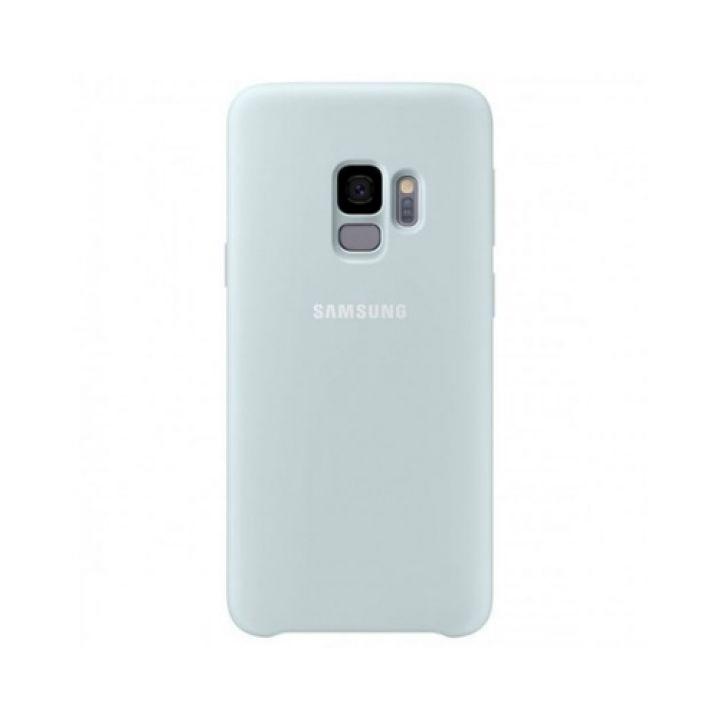 Чехол накладка голубой Silicone Case для Samsung Galaxy S9
