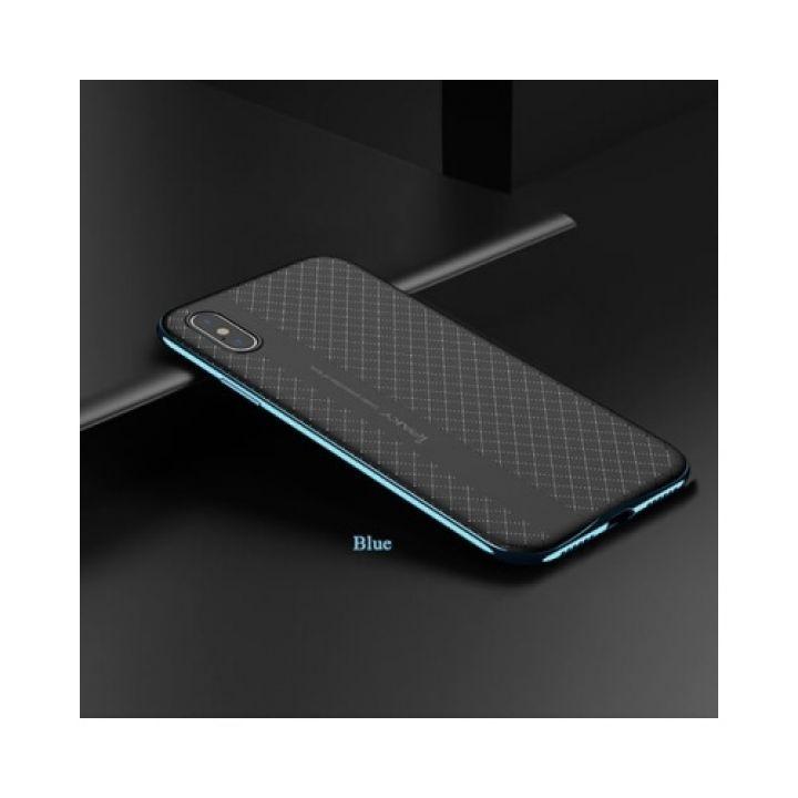2 в 1 чехол пенал Defense для iPhone X blue