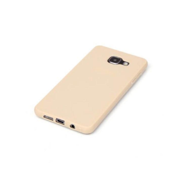 Яркий силиконовый чехол накладка Delicate для Samsung Galaxy A7 2016 gold