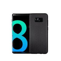 Тонкий силиконовый чехол накладка Carbon Black для Samsung Galaxy S8