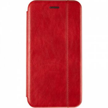 Кожаная книжка Cover Leather от Gelius для Huawei P Smart (2019) красная