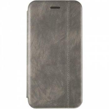 Кожаная книжка Cover Leather от Gelius для Samsung J610 (J6 Plus) серая