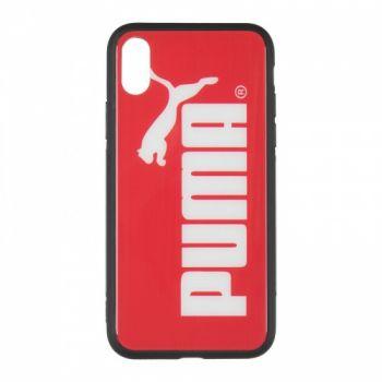 Силиконовая накладка с принтом от iPaky для iPhone X Puma красный