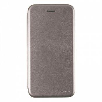 Чехол книжка из кожи G-Case Ranger для Samsung J810 (J8-2018) серый