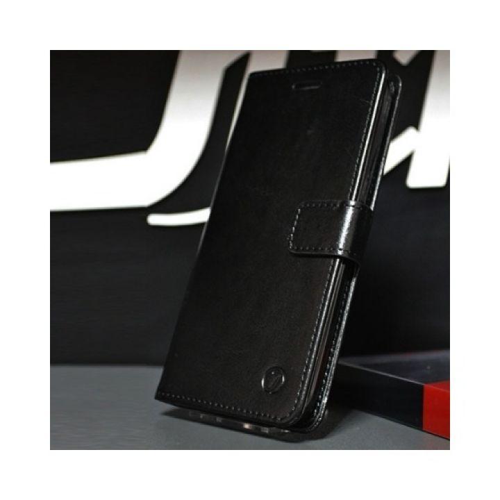 Черная кожаная чехол книжка ручной работы Kangaroo для Samsung Galaxy S9 от бренда Jitnik