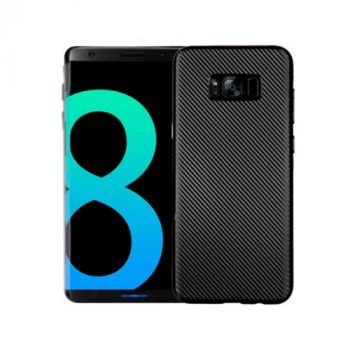 Ультратонкий чехол накладка Carbon Black для Samsung Galaxy S8 Plus