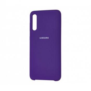 Оригинальный чехол накладка Soft Case для Samsung A50 фиолетовый