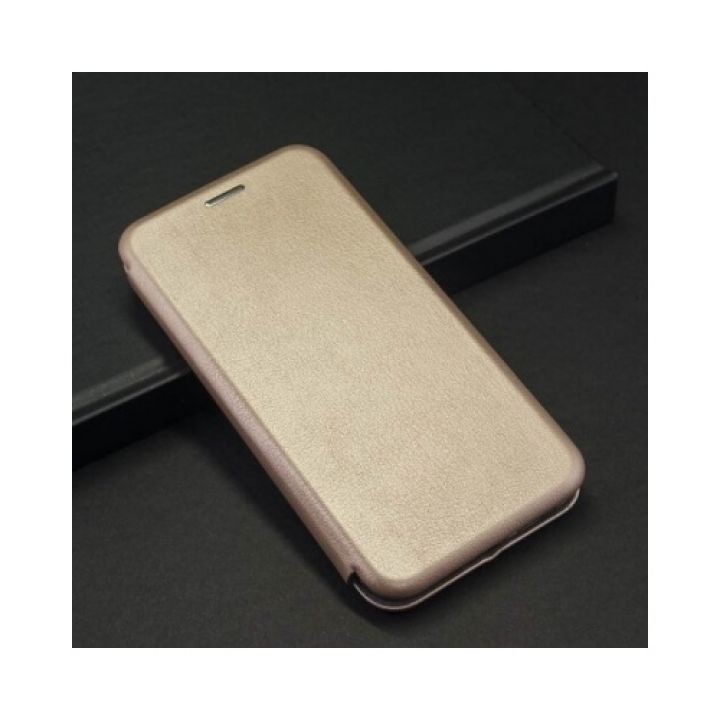 Золотой кожаный чехол флип Luxury для Samsung Galaxy S9 Plus