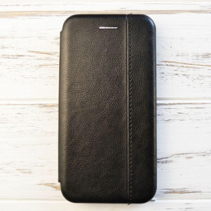 Кожаный черный чехол флип Lux Black для iPhone X