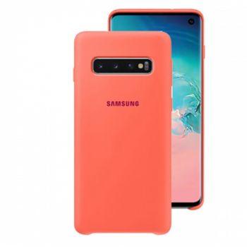 Чехол накладка Soft Matte для Samsung S10 Plus розовый