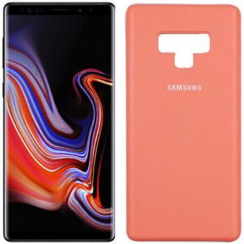 Оригинальный чехол накладка Soft Case для Samsung Note 9 розовый