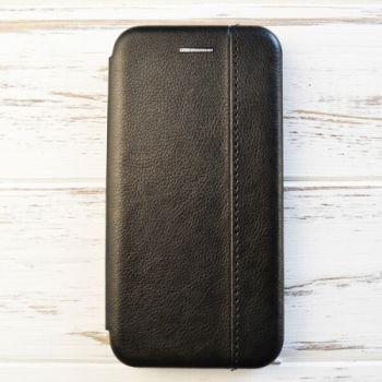 Черный кожаный чехол флип Lux Gold для Samsung Galaxy S8 Plus