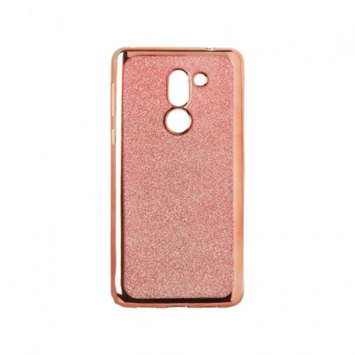 Чехол с блесками Glitter Silicon от Remax для Xiaomi Redmi Note 4 розовый