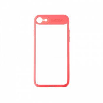 Накладка из силикона Mirror с прозрачной задней частью для iPhone 6 розовый
