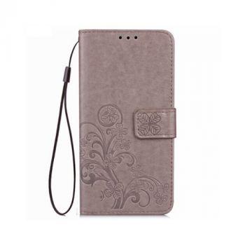Красивый кожаный чехол книжка Lovely для Samsung Galaxy Note 8 gray