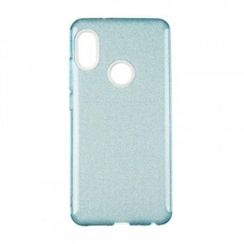 Чехол с блесками Glitter Silicon от Remax для Xiaomi Redmi Note 5/5 Pro Blue