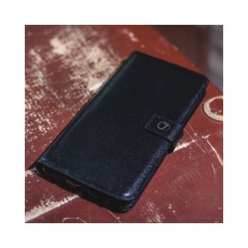 Черный чехол книжка Klassika от Jitnik из натуральной кожи для iPhone X (10) со скидкой 50%