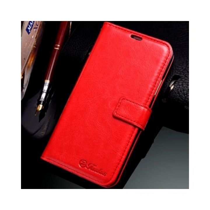 Яркий чехол книжка Vintage Cover для iPhone X красный