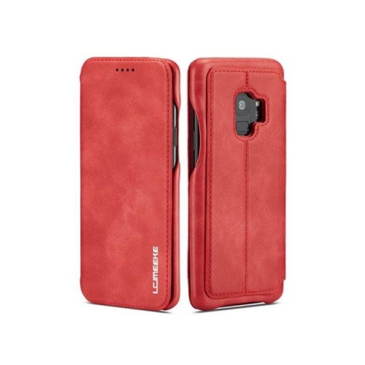 Красивый чехол флип красного цвета Lucky для Samsung Galaxy S9