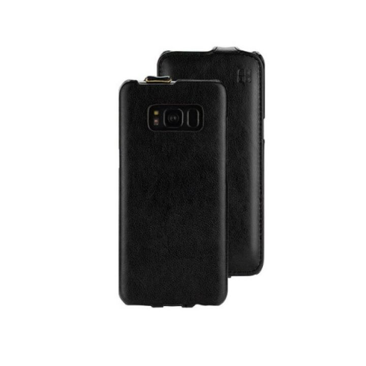 Винтажный чехол флип Luxury Case для Samsung Galaxy S8 black