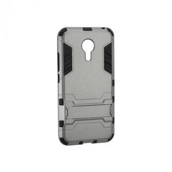 Пластиковый ударопрочный чехол накладка для Meizu M5 Note серый