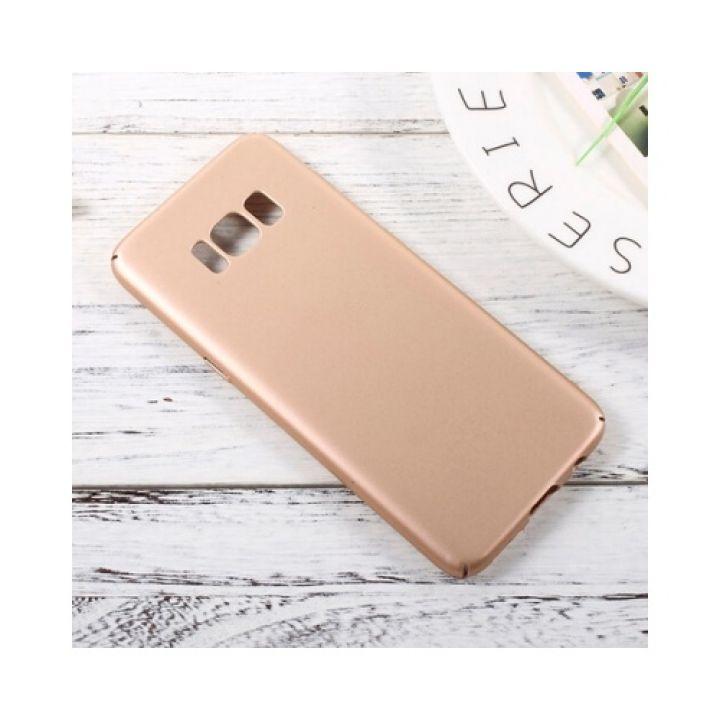 Красивый чехол бампер Silk Touch для Samsung Galaxy S8 Plus gold