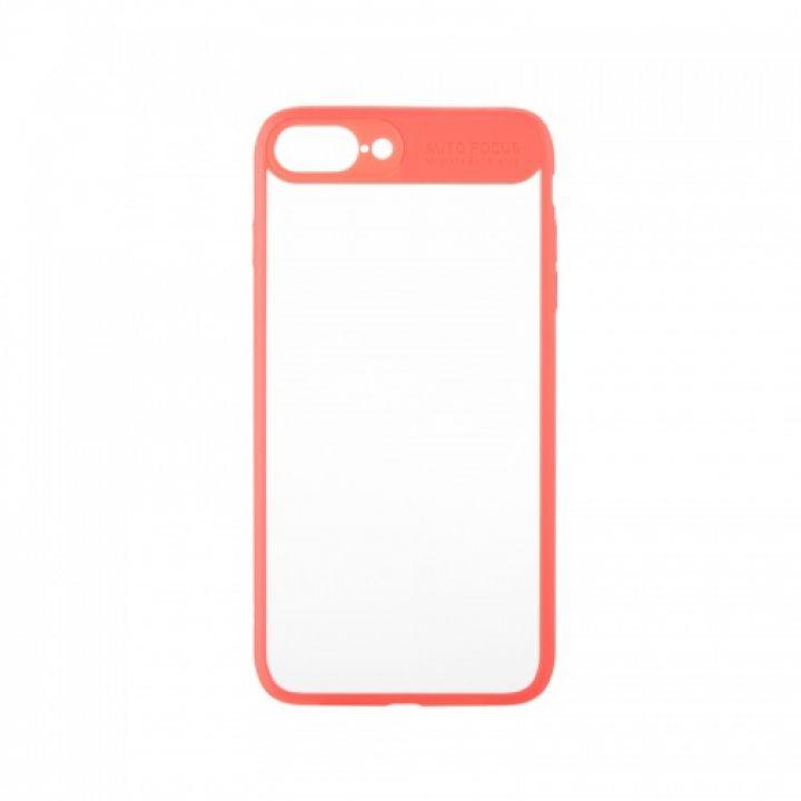 Накладка из силикона Mirror с прозрачной задней частью для iPhone 6 Plus розовый