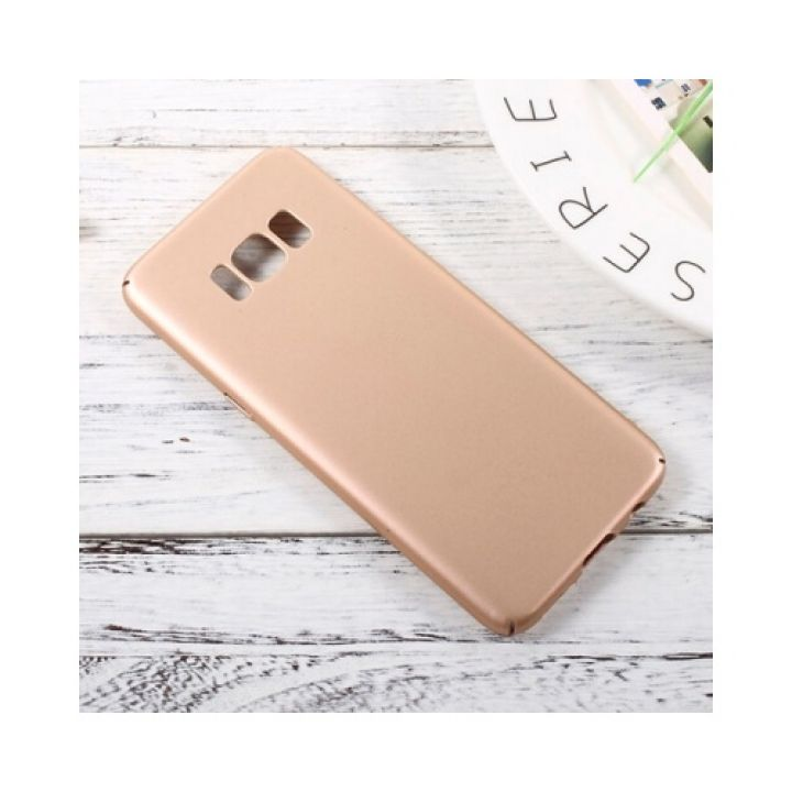 Silk Touch золотой чехол бампер для Samsung Galaxy S8
