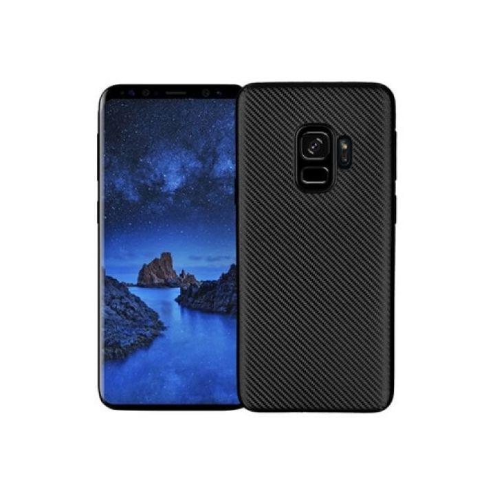 Карбоновый чехол для Samsung Galaxy S9 черный