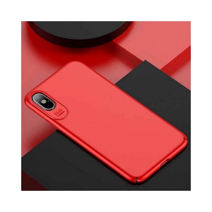 Яркий ультратонкий чехол для iPhone X Silk Touch красного цвета
