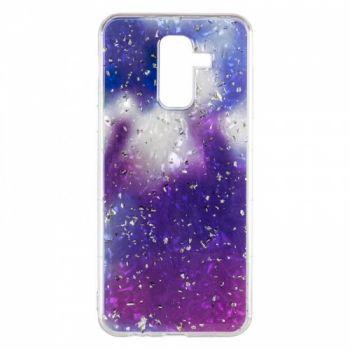 Чехол с жидкостью и блестками Light Stone от Baseus для Samsung J810 (J8-2018) фиолетовый