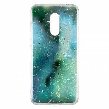 Чехол с жидкостью и блестками Light Stone от Baseus для Samsung J810 (J8-2018) зеленый