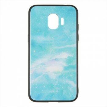 Силиконовая накладка с принтом от iPaky для Samsung J600 (J6-2018) зеленый Marmor