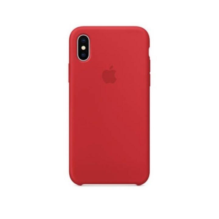 Яркий чехол накладка Original Copy для iPhone X красный