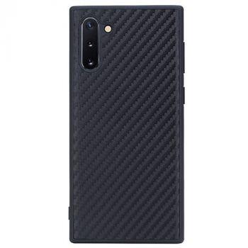 Черный карбоновый чехол для Samsung Galaxy Note 10 Plus