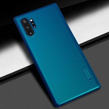 Пластиковый чехол Silk Touch для Samsung Galaxy Note 10 Plus синий