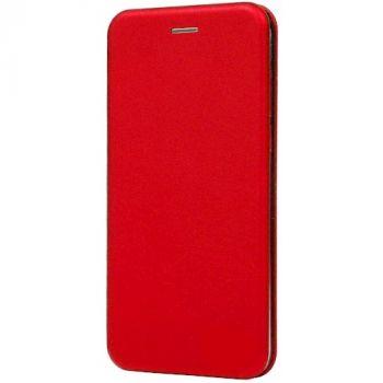 Чехол книжка из кожи Ranger для Samsung S8 красная