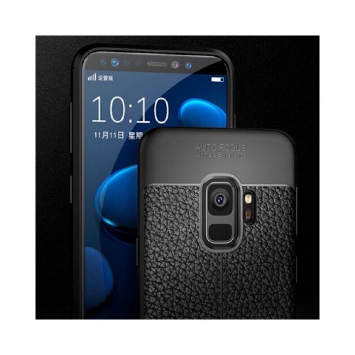 Ультратонкий черный чехол пенал Comby для Samsung Galaxy S9