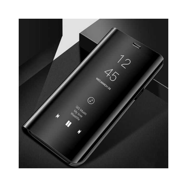 Черный Smart Clear чехол флип для Samsung Galaxy S9