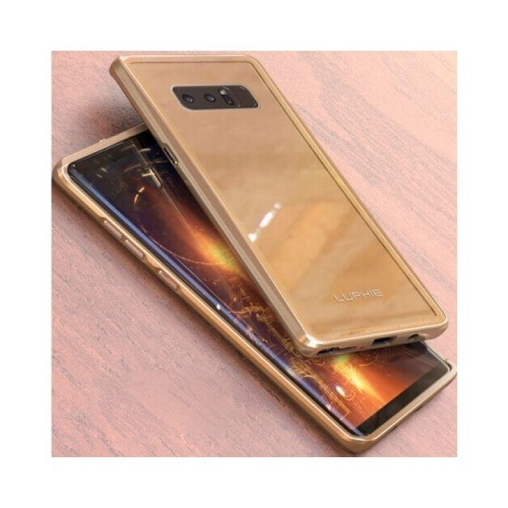 Красивый чехол пенал Luxury Glass для Samsung Galaxy Note 8 gold
