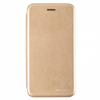 Чехол книжка из кожи Ranger от G-Case для Huawei Y7 Prime (2018) золото