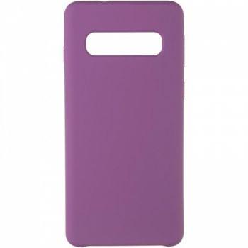 Чехол накладка Soft Matte для Samsung S10 фиолетовый