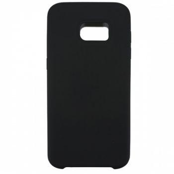 Чехол накладка под оригинал Soft Case для Samsung S7 Edge черный