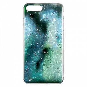 Чехол с жидкостью и блестками Light Stone от Baseus для iPhone 8 Plus зеленый