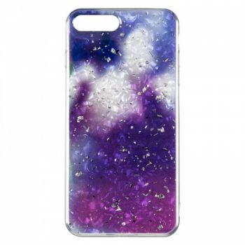 Чехол с жидкостью и блестками Light Stone от Baseus для iPhone 7 Plus фиолетовый