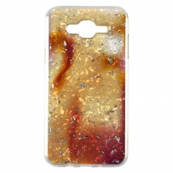 Чехол с жидкостью и блестками Light Stone от Baseus для Samsung J700 (J7) золотой