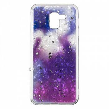 Чехол с жидкостью и блестками Light Stone от Baseus для Samsung J600 (J6-2018) фиолетовый